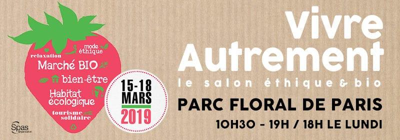 Salon Vivre autrement  – du 15 au 18 mars – Parc floral de Paris