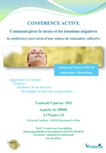 Conférence active - Gestion du stress - 9 janvier 2015
